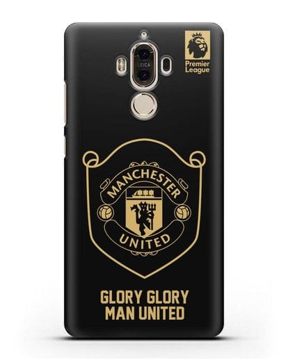 Чехол с золотым логотипом Manchester United с надписью GLORY, GLORY MAN UNITED силикон черный для Huawei Mate 9