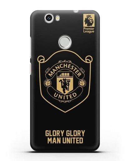 Чехол с золотым логотипом Manchester United с надписью GLORY, GLORY MAN UNITED силикон черный для Huawei Nova