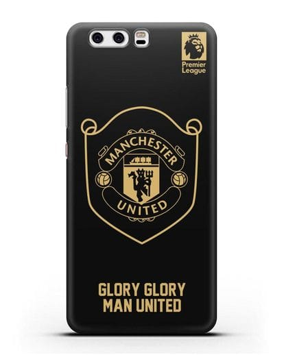 Чехол с золотым логотипом Manchester United с надписью GLORY, GLORY MAN UNITED силикон черный для Huawei P10 Plus