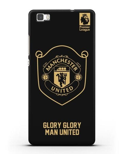 Чехол с золотым логотипом Manchester United с надписью GLORY, GLORY MAN UNITED силикон черный для Huawei P8 Lite