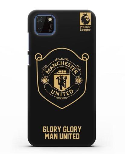 Чехол с золотым логотипом Manchester United с надписью GLORY, GLORY MAN UNITED силикон черный для Huawei Y5P