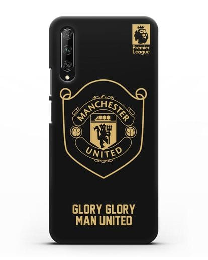 Чехол с золотым логотипом Manchester United с надписью GLORY, GLORY MAN UNITED силикон черный для Huawei Y9s