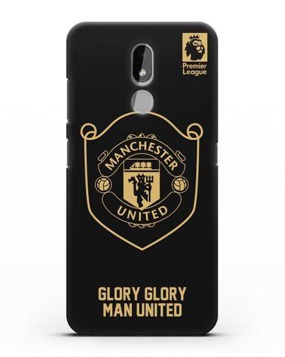 Чехол с золотым логотипом Manchester United с надписью GLORY, GLORY MAN UNITED силикон черный для Nokia 3.2 2019