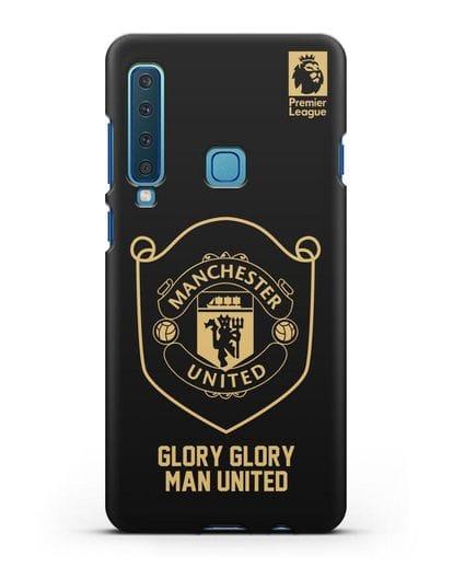 Чехол с золотым логотипом Manchester United с надписью GLORY, GLORY MAN UNITED силикон черный для Samsung Galaxy A9 (2018) [SM-A920]