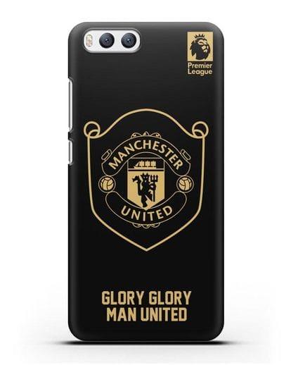 Чехол с золотым логотипом Manchester United с надписью GLORY, GLORY MAN UNITED силикон черный для Xiaomi Mi 6