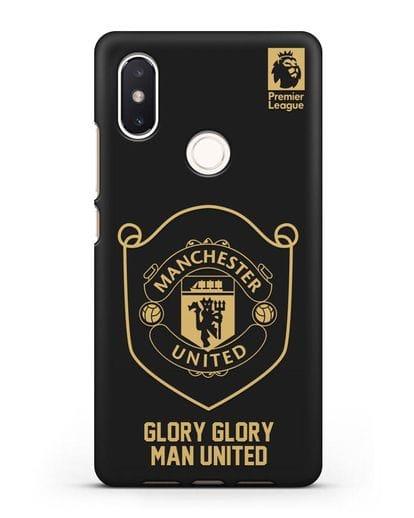 Чехол с золотым логотипом Manchester United с надписью GLORY, GLORY MAN UNITED силикон черный для Xiaomi Mi 8 SE