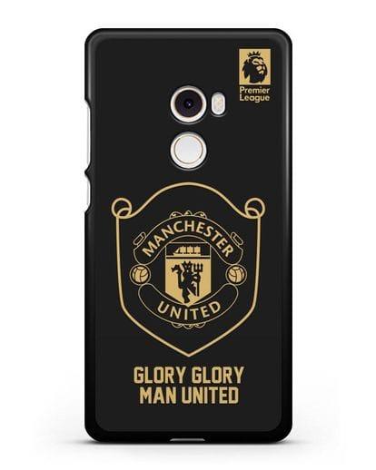 Чехол с золотым логотипом Manchester United с надписью GLORY, GLORY MAN UNITED силикон черный для Xiaomi Mi Mix 2