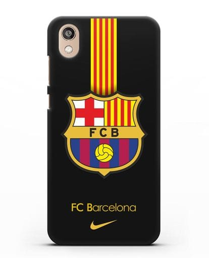 Чехол FC Barcelona с логотипом Nike силикон черный для Honor 8S