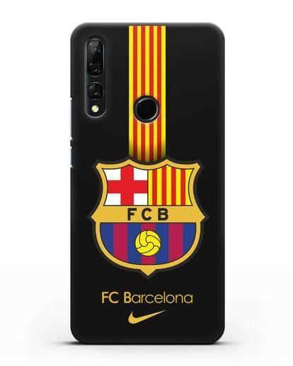 Чехол FC Barcelona с логотипом Nike силикон черный для Honor 9X