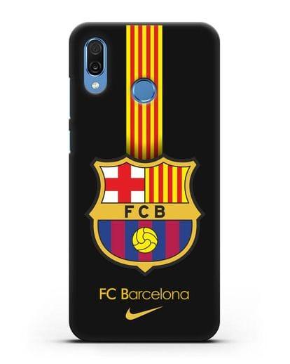 Чехол FC Barcelona с логотипом Nike силикон черный для Honor Play