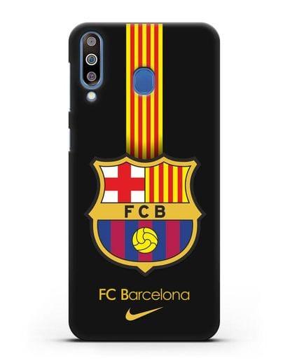 Чехол FC Barcelona с логотипом Nike силикон черный для Samsung Galaxy M30 [SM-M305F]