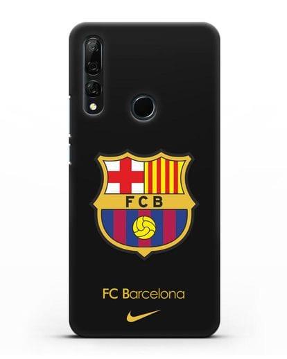 Чехол Барселона с логотипом Nike силикон черный для Honor 9X