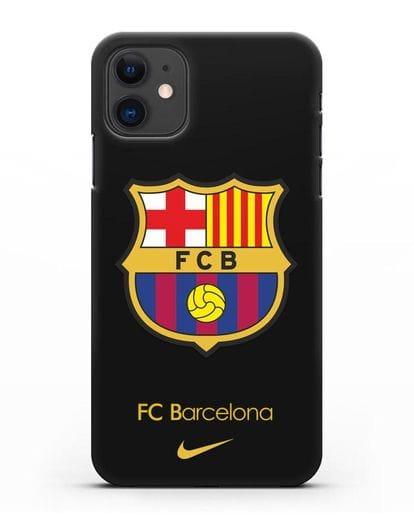 Чехол Барселона с логотипом Nike силикон черный для iPhone 11