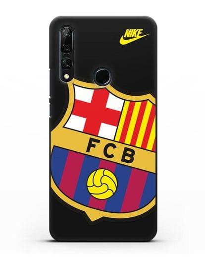 Чехол с эмблемой Барселона силикон черный для Honor 9X