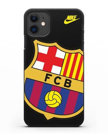 Чехол с эмблемой Барселона силикон черный для iPhone 11
