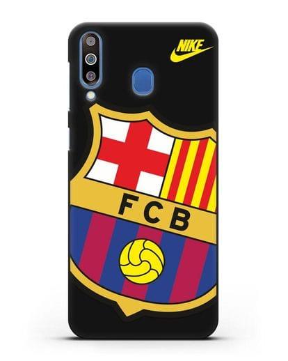 Чехол с эмблемой Барселона силикон черный для Samsung Galaxy M30 [SM-M305F]