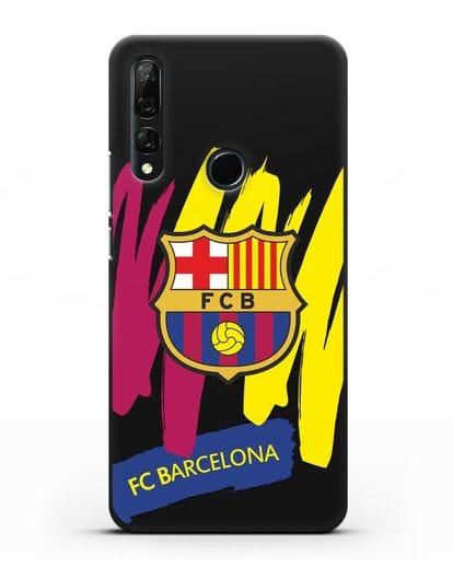 Чехол Барселона с картинкой силикон черный для Honor 9X