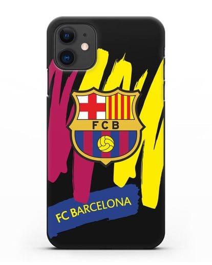 Чехол Барселона с картинкой силикон черный для iPhone 11
