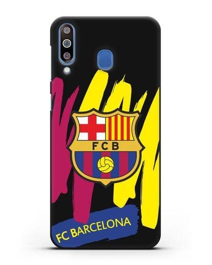 Чехол Барселона с картинкой силикон черный для Samsung Galaxy M30 [SM-M305F]