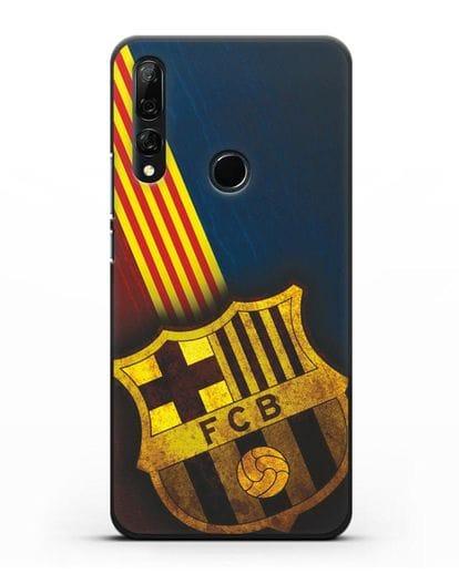 Чехол FC Barcelona с картинкой силикон черный для Honor 9X