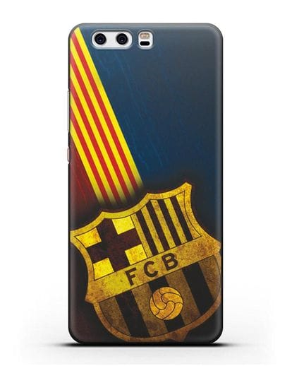 Чехол FC Barcelona с картинкой силикон черный для Huawei P10 Plus