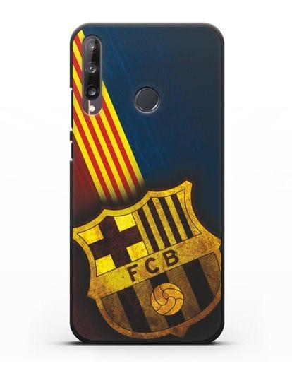 Чехол FC Barcelona с картинкой силикон черный для Huawei P40 lite E