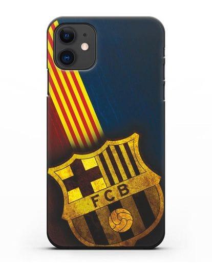 Чехол FC Barcelona с картинкой силикон черный для iPhone 11