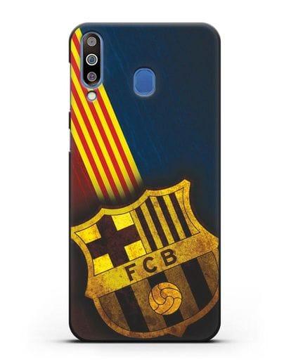 Чехол FC Barcelona с картинкой силикон черный для Samsung Galaxy M30 [SM-M305F]