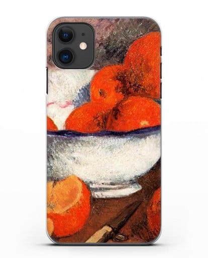 Чехол Натюрморт с апельсинами (Гоген Поль) силикон прозрачный для iPhone 11