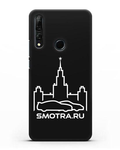Чехол с логотипом Smotra.ru МГУ силикон черный для Honor 9X