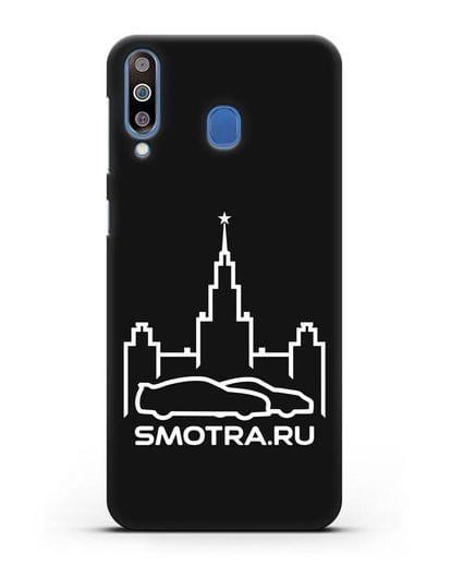 Чехол с логотипом Smotra.ru МГУ силикон черный для Samsung Galaxy M30 [SM-M305F]