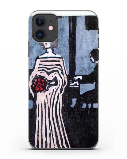 Чехол Певица (Кандинский Василий) силикон прозрачный для iPhone 11