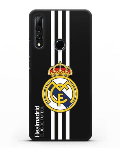 Чехол с надписью Real Madrid Club de Futbol силикон черный для Honor 9X
