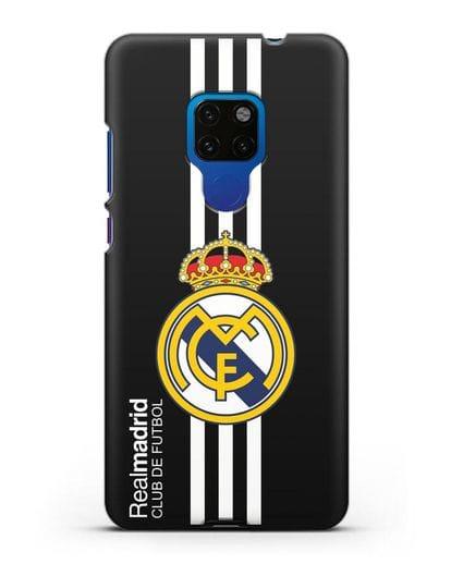 Чехол с надписью Real Madrid Club de Futbol силикон черный для Huawei Mate 20