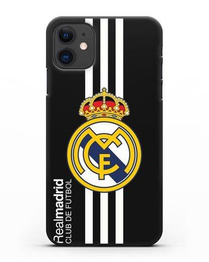 Чехол с надписью Real Madrid Club de Futbol силикон черный для iPhone 11