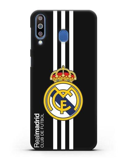 Чехол с надписью Real Madrid Club de Futbol силикон черный для Samsung Galaxy M30 [SM-M305F]