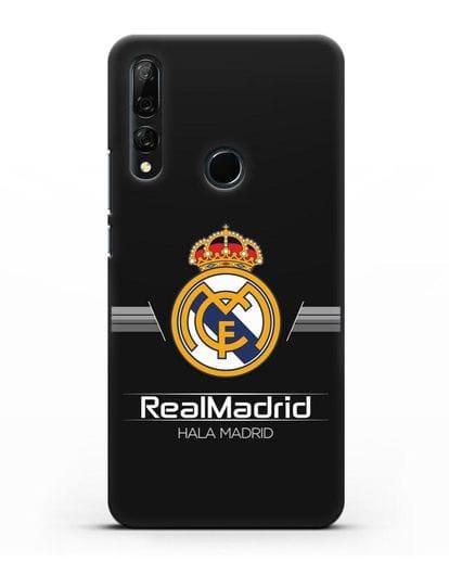 Чехол с логотипом Real Madrid и надписью Hala Madrid силикон черный для Honor 9X