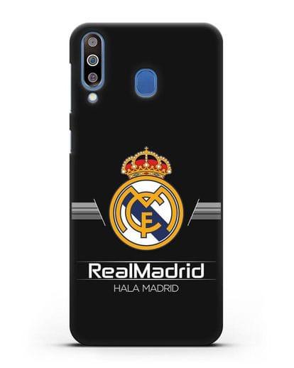 Чехол с логотипом Real Madrid и надписью Hala Madrid силикон черный для Samsung Galaxy M30 [SM-M305F]