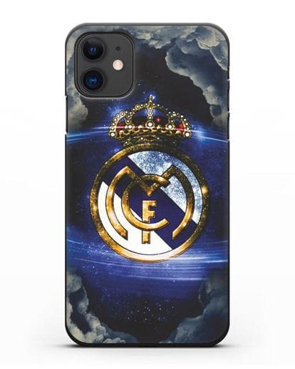 Чехол с картинкой Реал Мадрид силикон черный для iPhone 11