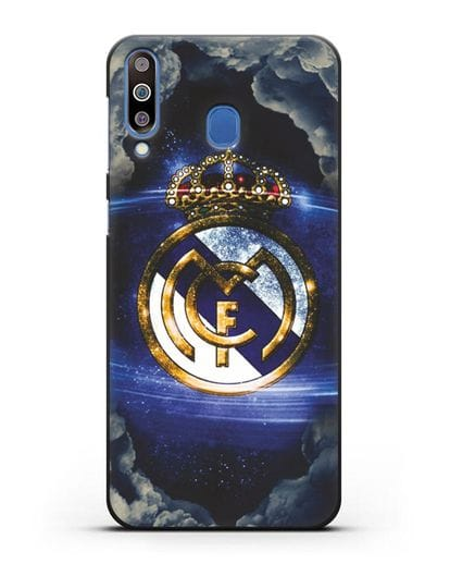 Чехол с картинкой Реал Мадрид силикон черный для Samsung Galaxy M30 [SM-M305F]