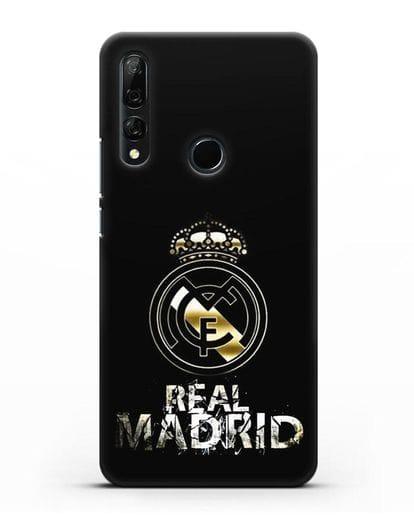 Чехол с логотипом и надписью Real Madrid силикон черный для Honor 9X