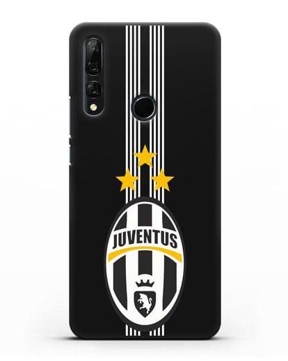 Чехол с логотипом Ювентус силикон черный для Honor 9X