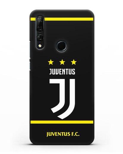 Чехол с логотипом Juventus и звёздами силикон черный для Honor 9X