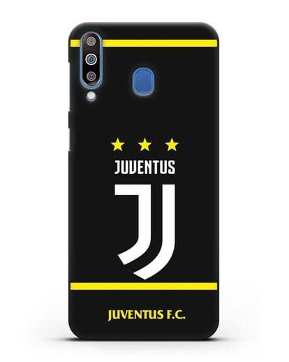 Чехол с логотипом Juventus и звёздами силикон черный для Samsung Galaxy M30 [SM-M305F]