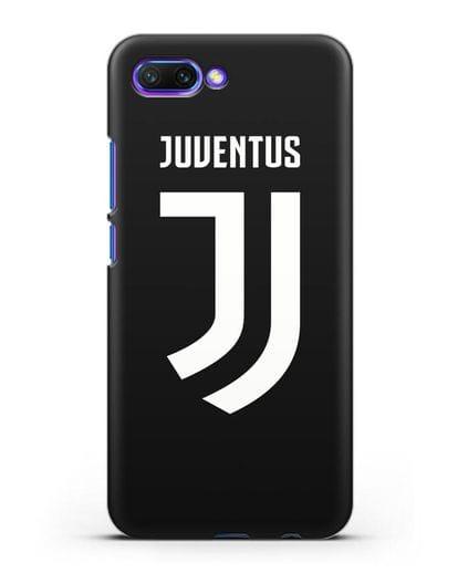 Чехол с логотипом и надписью Juventus силикон черный для Honor 10