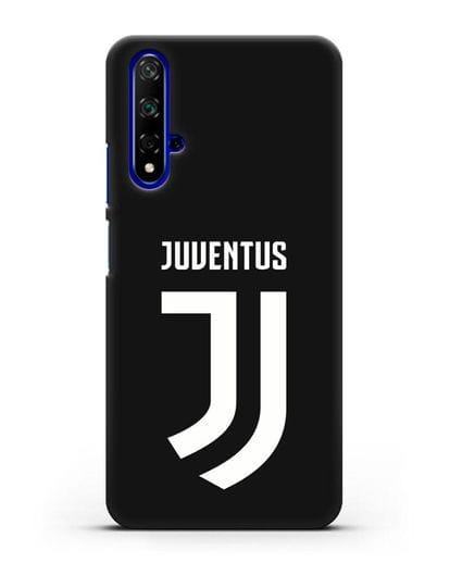Чехол с логотипом и надписью Juventus силикон черный для Honor 20