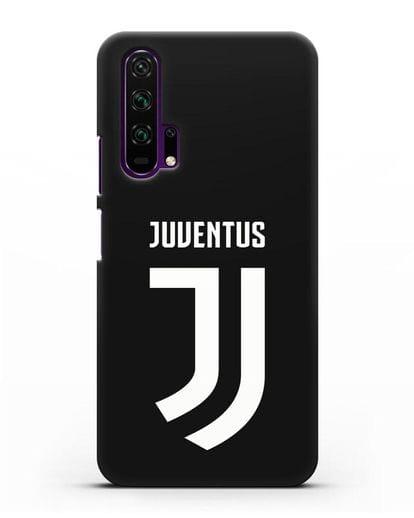 Чехол с логотипом и надписью Juventus силикон черный для Honor 20 Pro