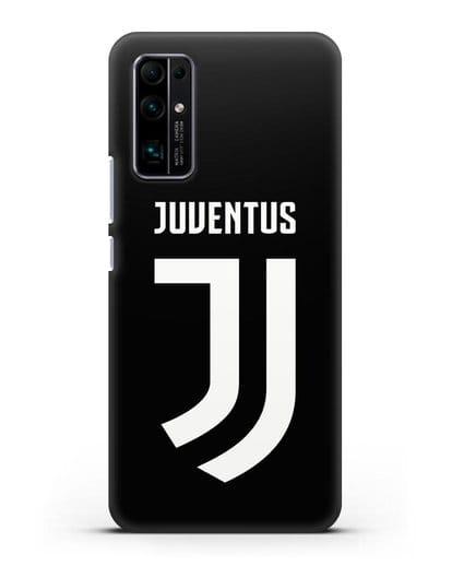 Чехол с логотипом и надписью Juventus силикон черный для Honor 30 Pro