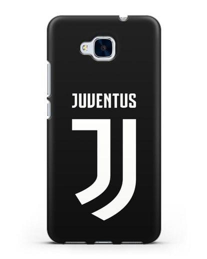 Чехол с логотипом и надписью Juventus силикон черный для Honor 5C