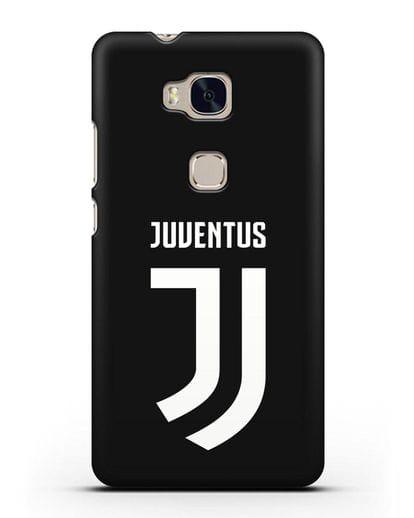 Чехол с логотипом и надписью Juventus силикон черный для Honor 5X
